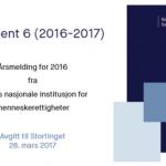 Les vår årsmelding for 2016