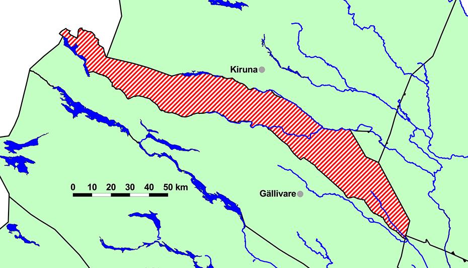 Girjas samebys byområde i Gällivare kommune, Norrbottens län