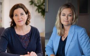 Hanne Bjurstrøm (Likestillings- og diskrimineringsombud) og Adele Matheson Mestad (Direktør Norges institusjon for menneskerettigheter).