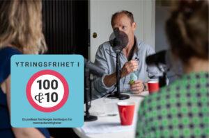 Harald Eia i podkaststudio med Adele Mestad og Anine Kierulf